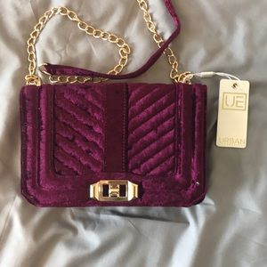 Handbags - NEW Crushed Velvet Purple Crossbody Purse